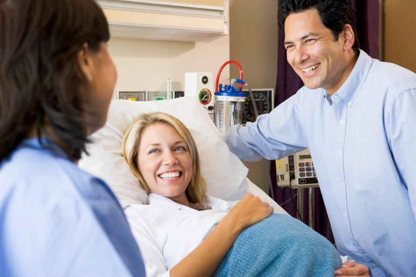 Беременные рожают в больнице в